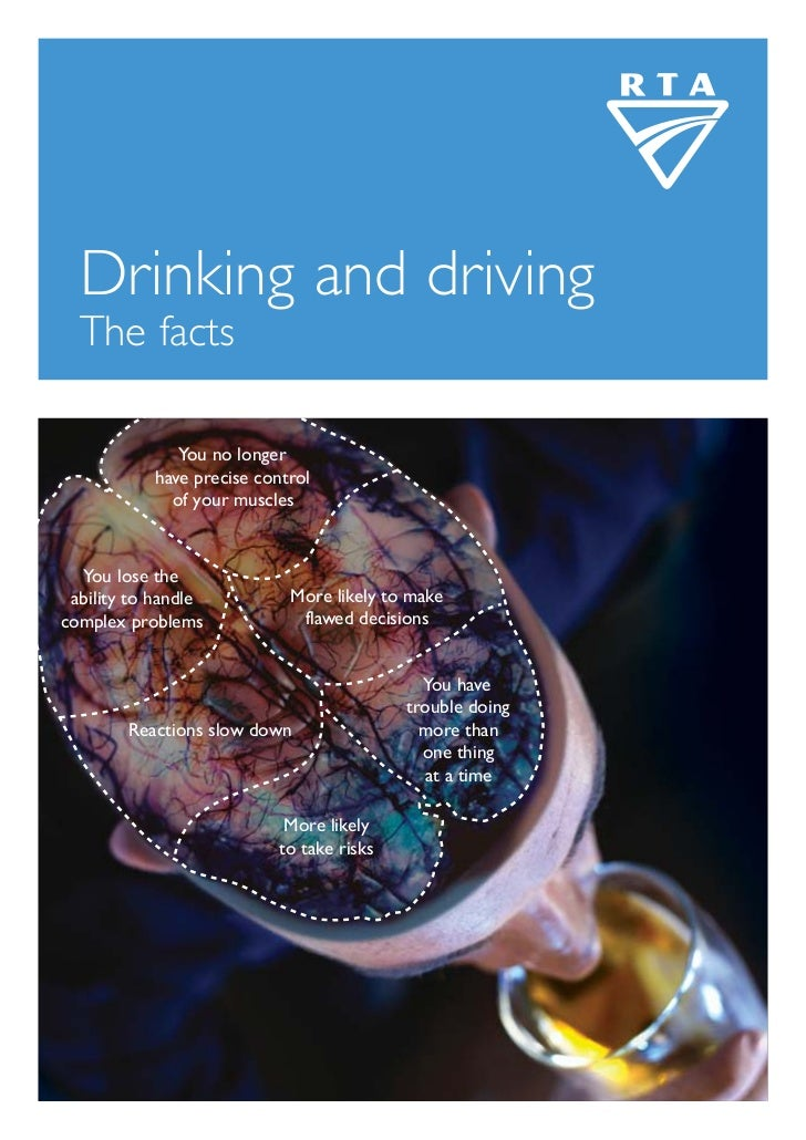 Drinking and driving  The facts              You no longer           have precise control             of your muscles  You...