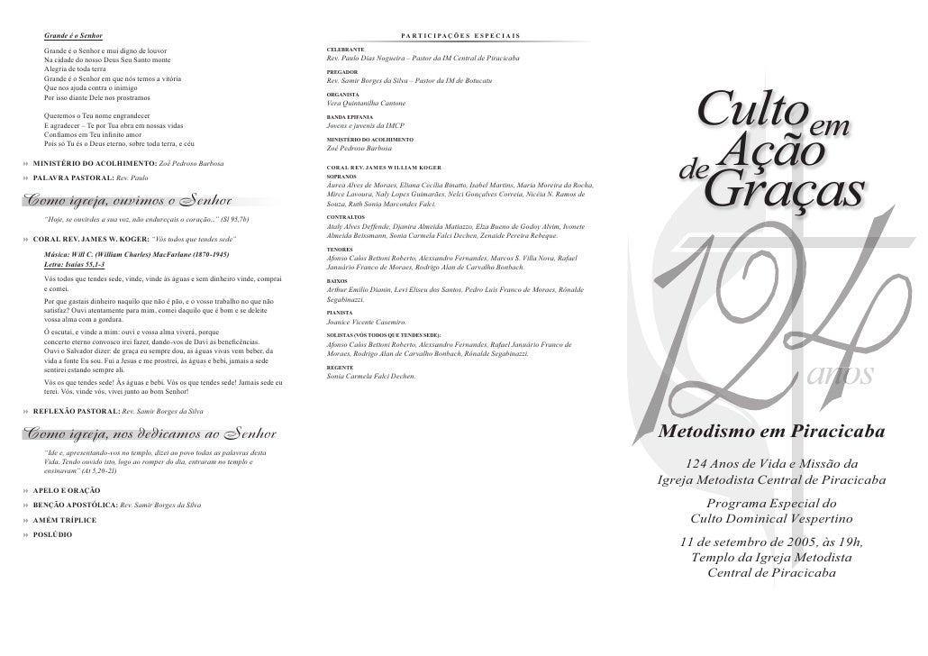 2005 09 11   culto vespertino - aniversário 124 anos