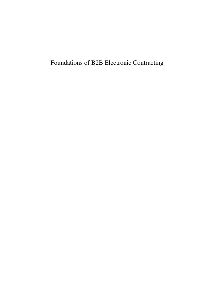 Foundations of B2B Electronic Contracting