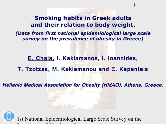 1            Smoking habits in Greek adults           and their relation to body weight.     (Data from first national epi...