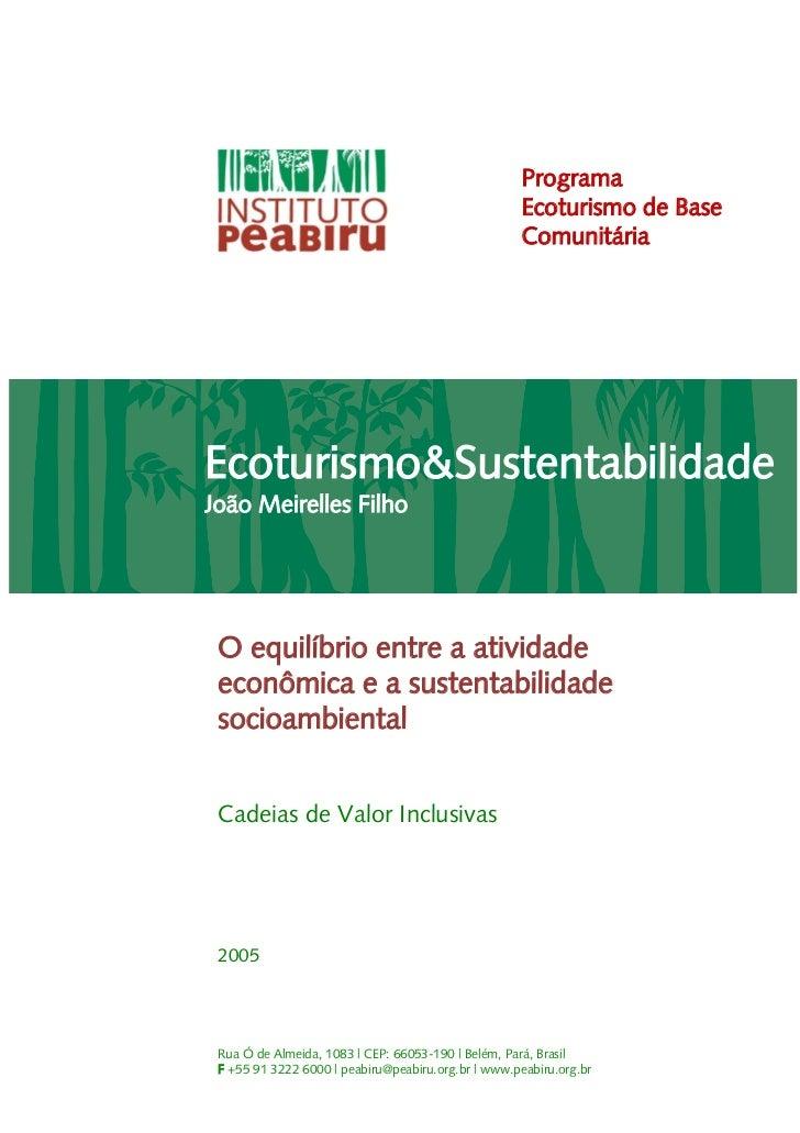 Programa                                                     Ecoturismo de Base                                           ...