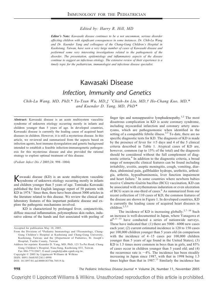 Kawasaki disesae review (Ho-Chang Kuo, MD)郭和昌醫師