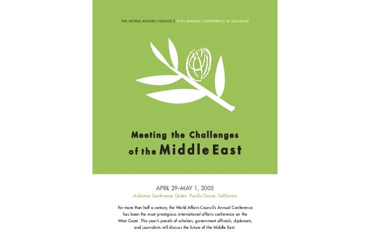WorldAffairs 2005: Meeting the Challenges of the Middle East
