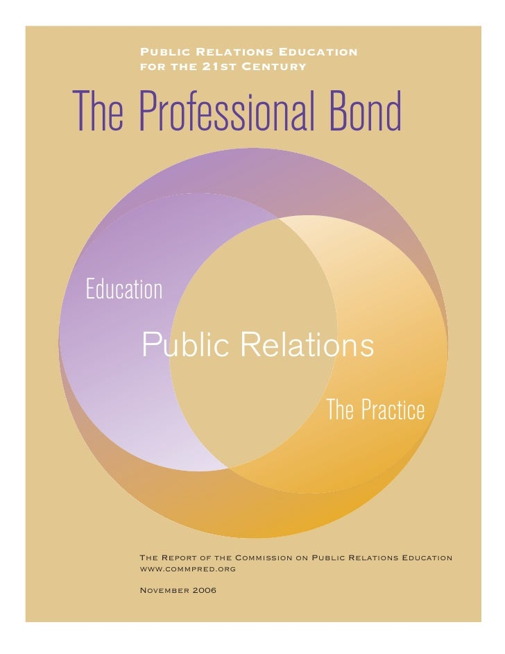 2006 Report Of The Commission On Public Relations Education