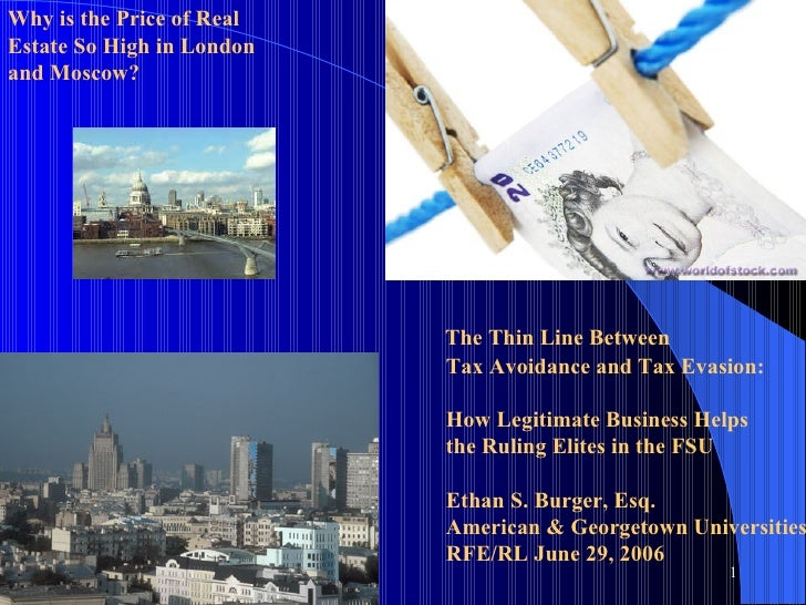 The Thin Line Between Tax Avoidance and Tax Evasion:    How Legitimate Business Helps  the Ruling Elites in the FSU Etha...
