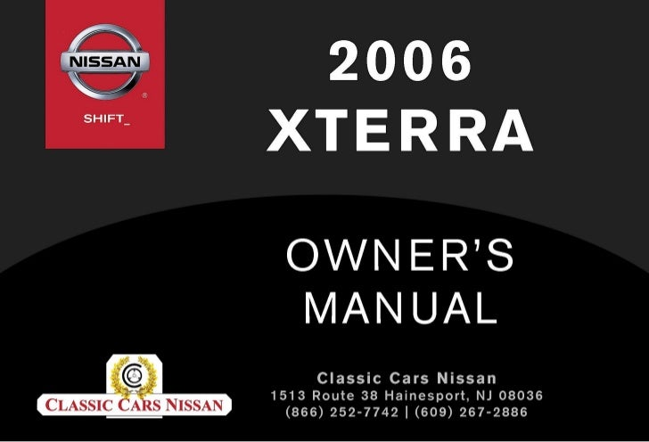 2006 XTERRA OWNER'S MANUAL