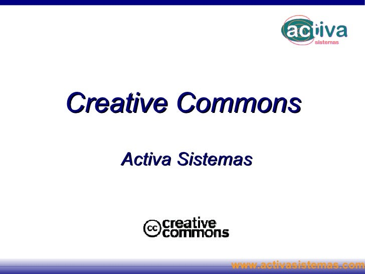 Creative Commons Activa Sistemas