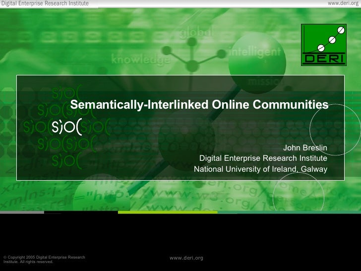Semantically-Interlinked Online Communities