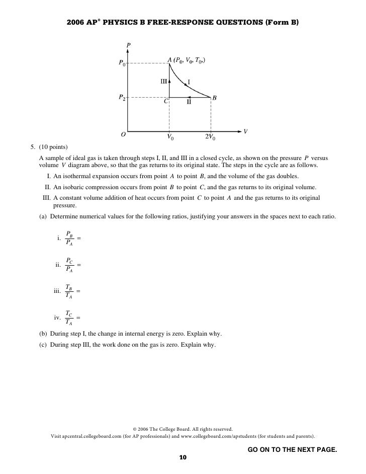 ap physics b 1982 free response Does anyone know where i can get the 1974-1998 free reponse questions and answers for ap physics b help will be appreciated thanks a lot.