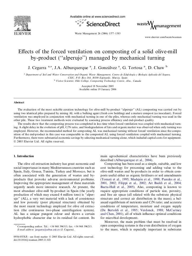 2006 Cegarra et al forced ventilation al composting