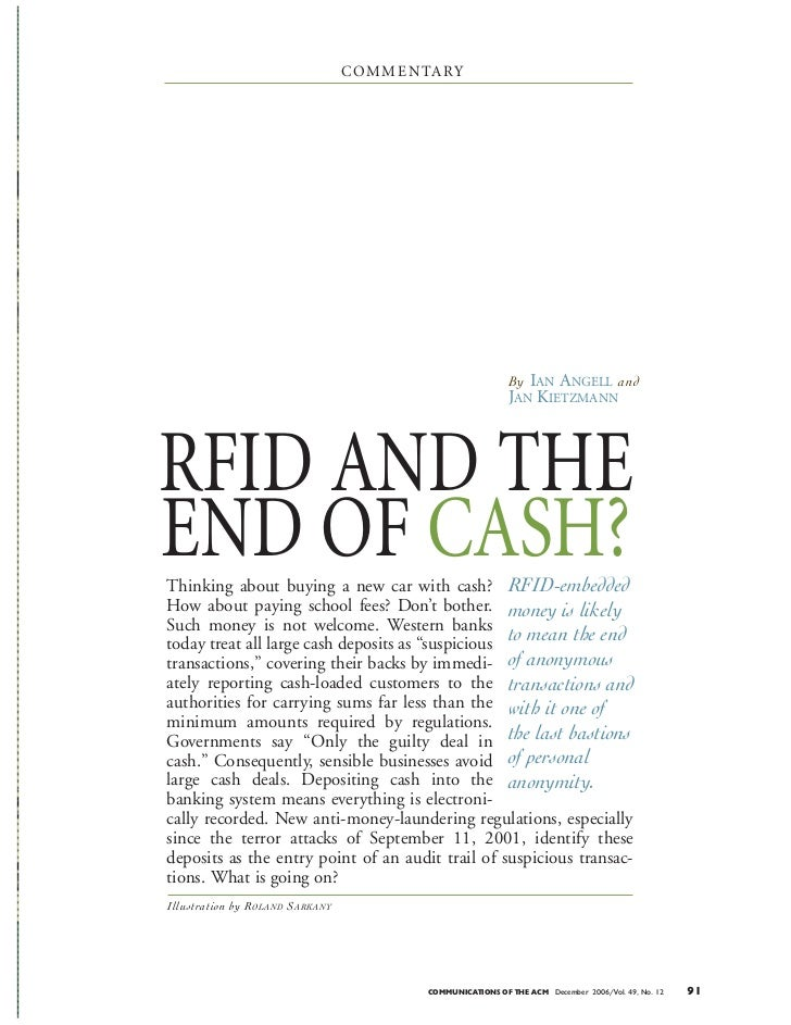 RFID and Cash