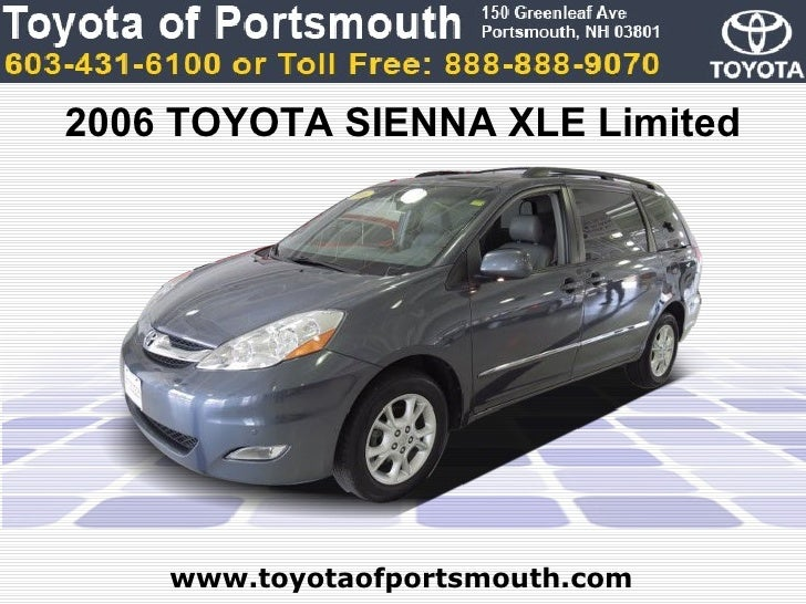 used 2006 toyota sienna xle limited portsmouth nh toyota. Black Bedroom Furniture Sets. Home Design Ideas