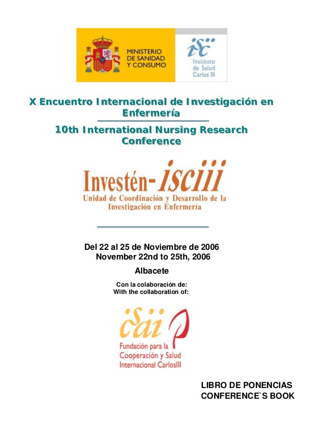 X Encuentro Internacional de Investigación enX Encuentro Internacional de Investigación en                 Enfermería     ...