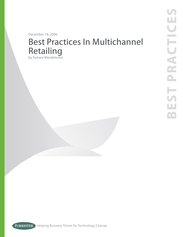 2007 09 - best practices in multichannel