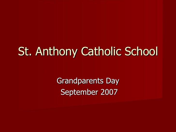 Grandparents Day September 2007 St. Anthony Catholic School