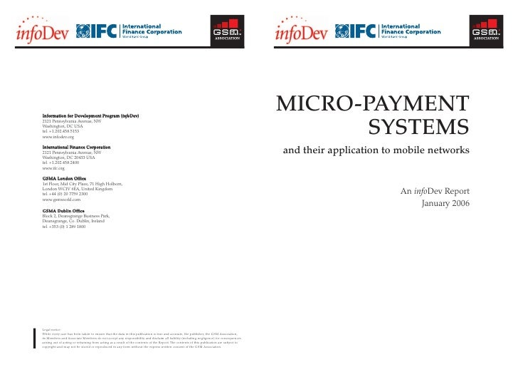 2007 09 - gsma - micro-payment system