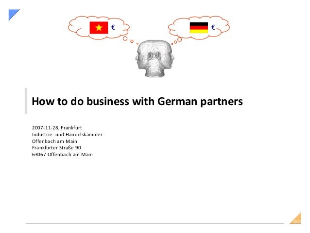 How to do Business with Germans