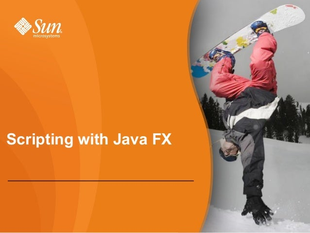 Scripting with Java FX - Cédric Tabin - December 2007