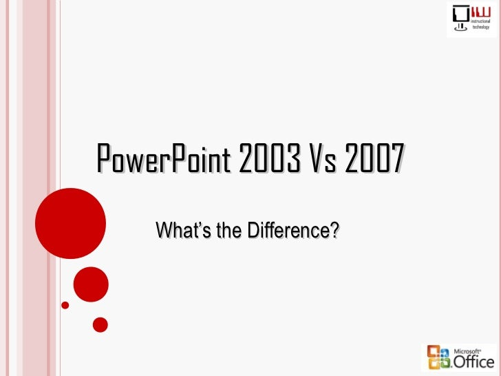 2003-2007 Power Point Differences
