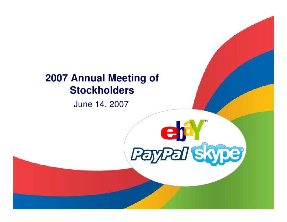 2007 Annual Meeting of      Stockholders      June 14, 2007                          ®