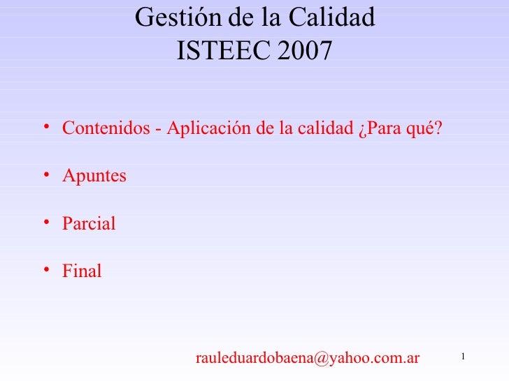 2007 Clase Nro. 01 Introduccion