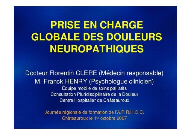 2007 Prise en charge globale des douleurs neuropathiques