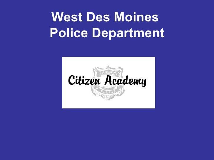 West Des Moines  Police Department