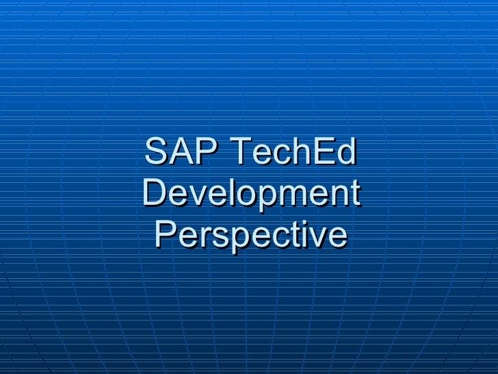 2007 SAPTech Ed