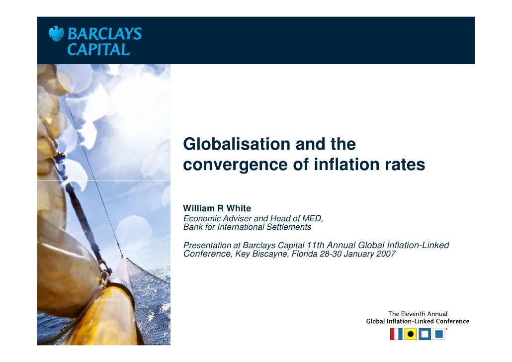 Place Client LogoHere                    Globalisation and the                    convergence of inflation rates          ...
