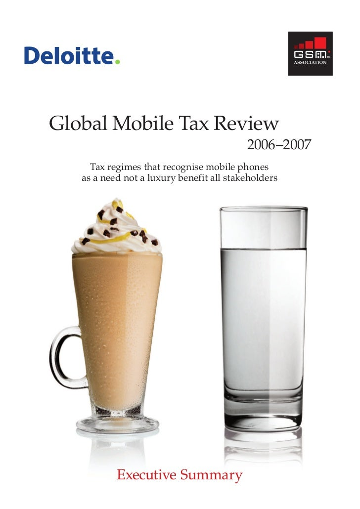 200702 gsma global mobile tax review 06 07 - exec sum