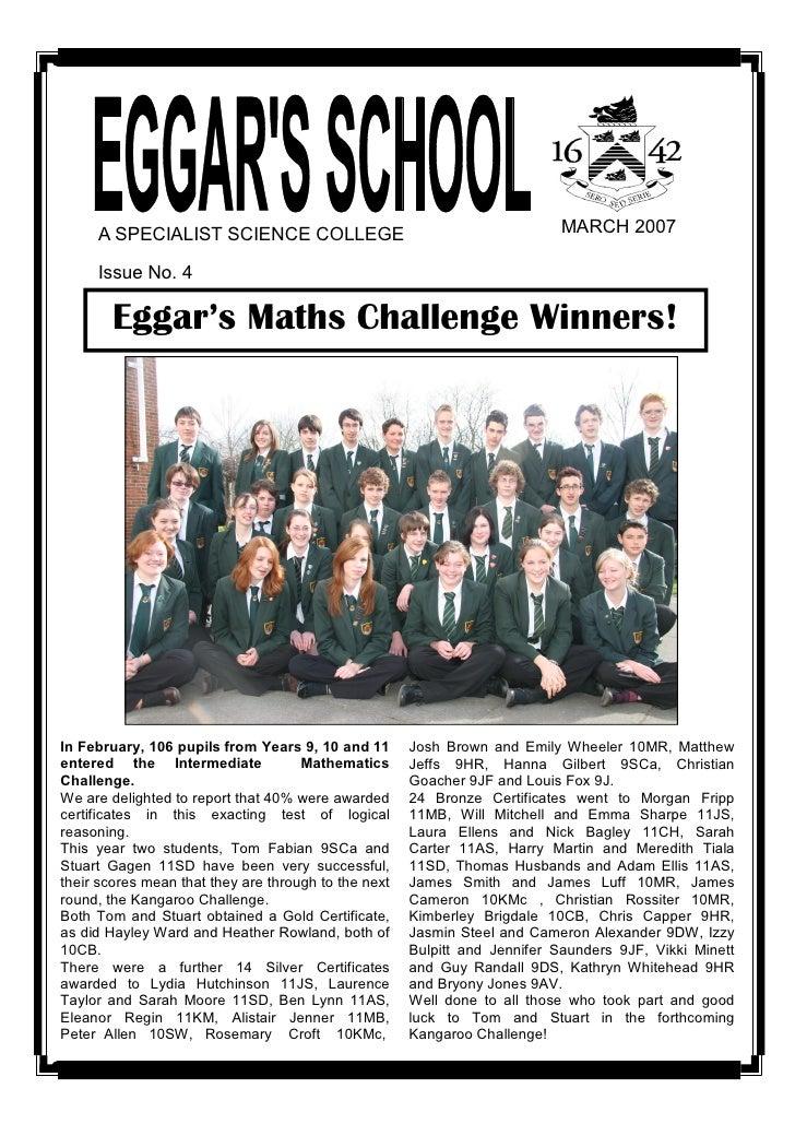 March 2007 School Newsletter