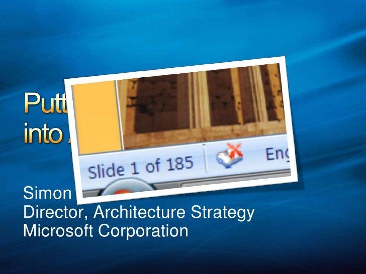 Architectng UX