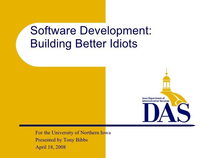 <ul><ul><li>For the University of Northern Iowa </li></ul></ul><ul><ul><li>Presented by Tony Bibbs </li></ul></ul><ul><ul>...