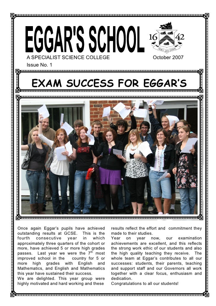 October 2007 School Newsletter
