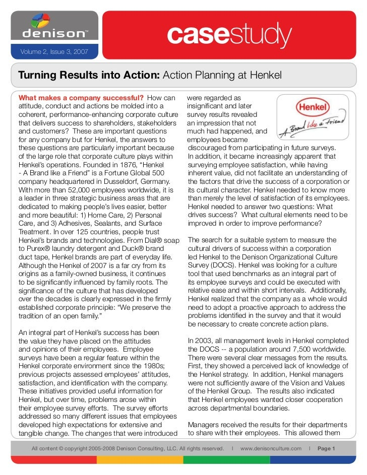 Turning Results into Action: Action Planning at Henkel