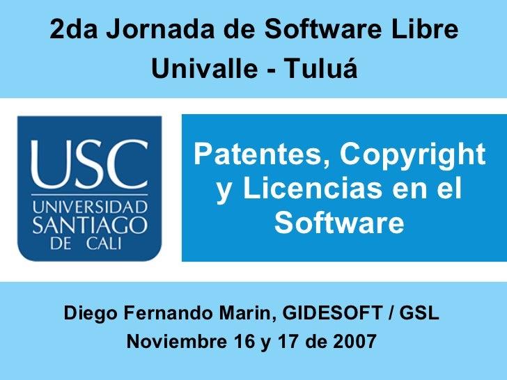 Patentes, Copyright y Licencias en el Software