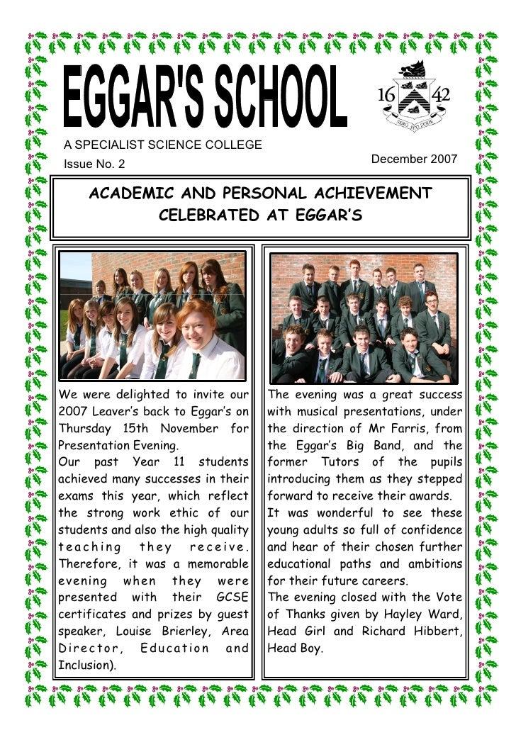 December 2007 School Newsletter
