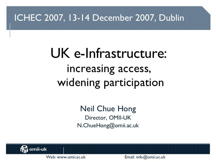 UK e-Infrastructure: Widening Access, Increasing Participation
