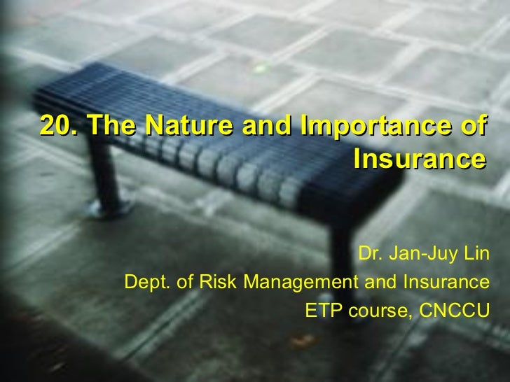 2007 20 nature and_importance_insurance