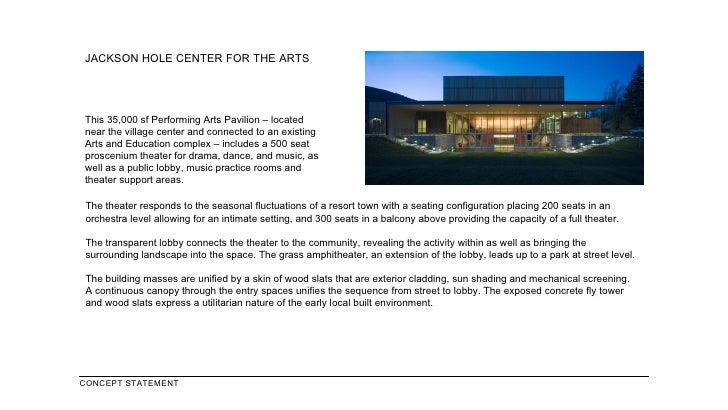 JACKSON HOLE CENTER FOR THE ARTS This 35,000 sf Performing Arts Pavilion – located near the village center and connected t...