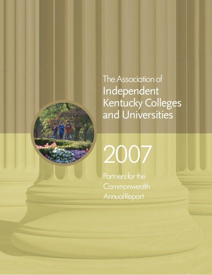 2007 AIKCU Annual Report
