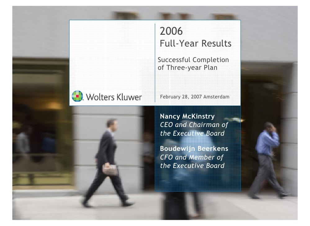 Wolters Kluwer 2006 Full-Year Results