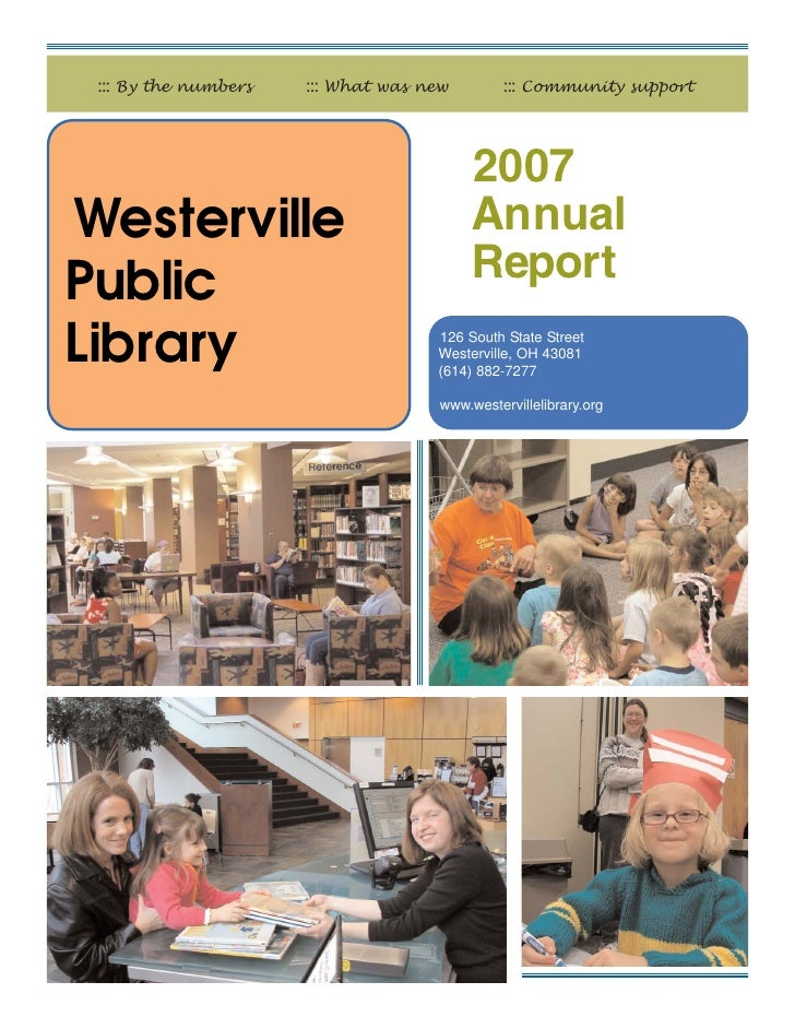 ::: By the numbers   ::: What was new         ::: Community support                                          2007Westervil...