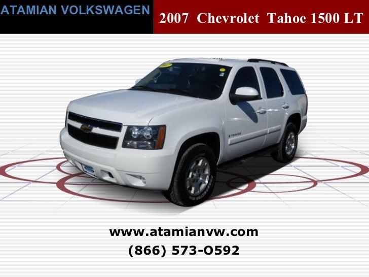 Used 2007 Chevrolet Tahoe 1500 LT Boston, MA