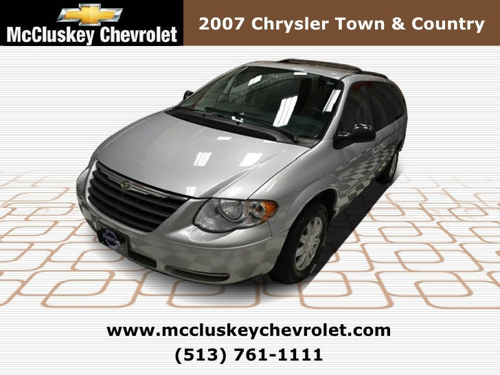 Used 2007 Chrysler Town & Country LWB 4dr Wgn – Kings Automall Cincinnati, Ohio