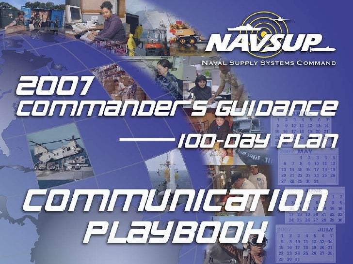 2007 NAVSUP 100-day Communication Playbook
