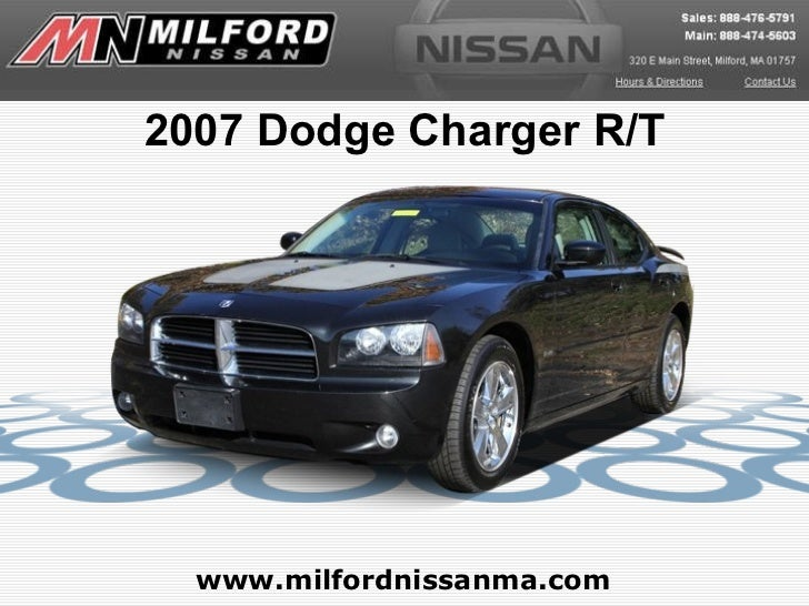 www.milfordnissanma.com 2007 Dodge Charger R/T