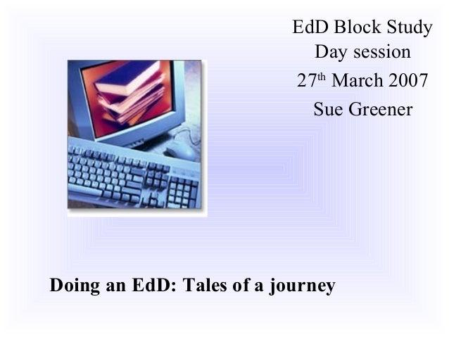 EdD Block Study                             Day session                           27th March 2007                         ...