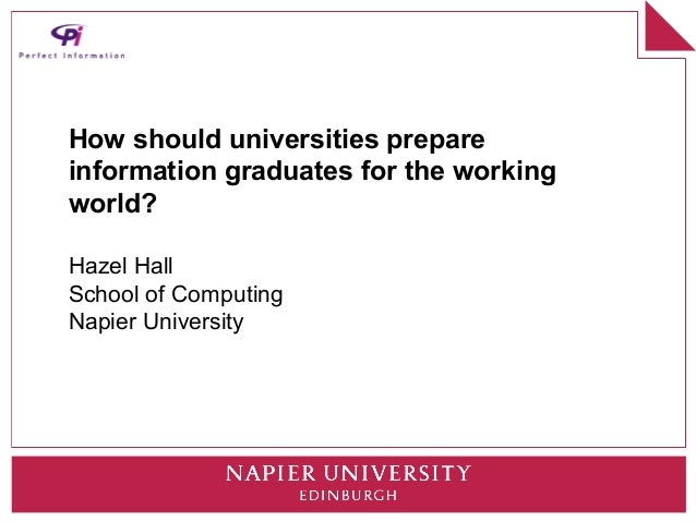How should universities prepare information graduates for the working world?