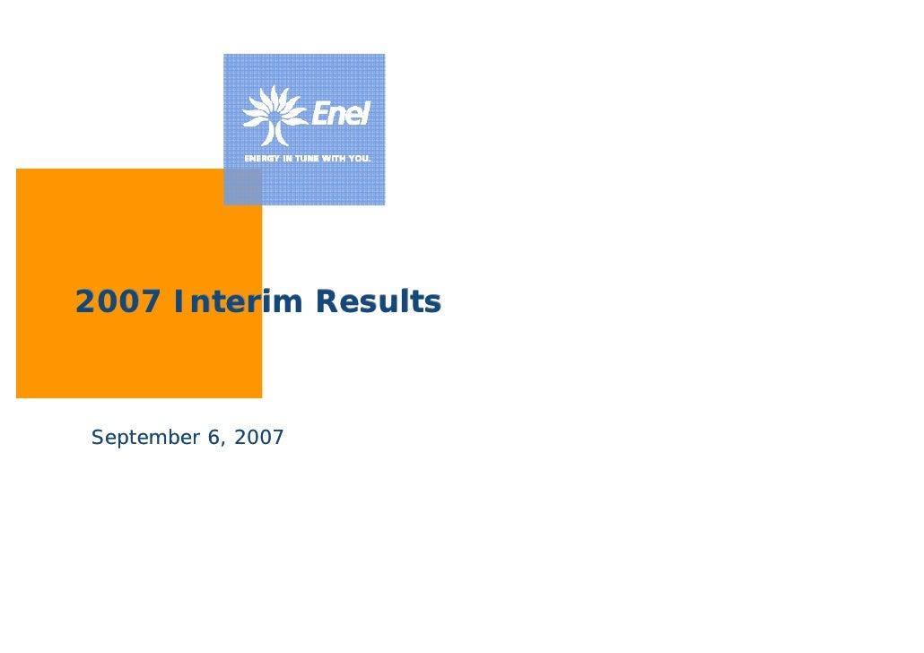 2007 Interim Results